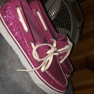 Pink and Trendy Sparkly Sperrys